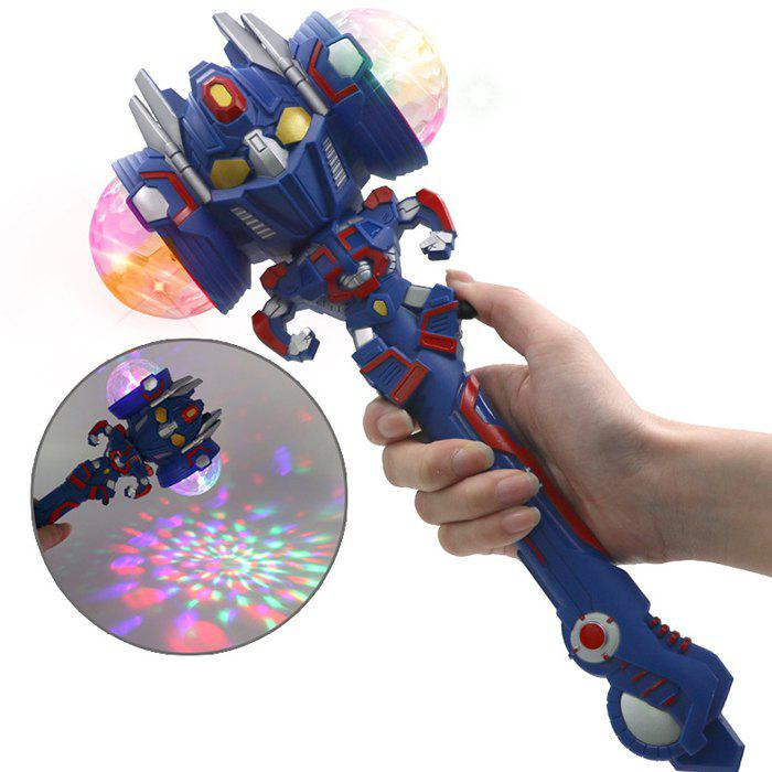 Chic Robot Projection Magic Stick Colorful Flash Electric Music Light Shiny Toy