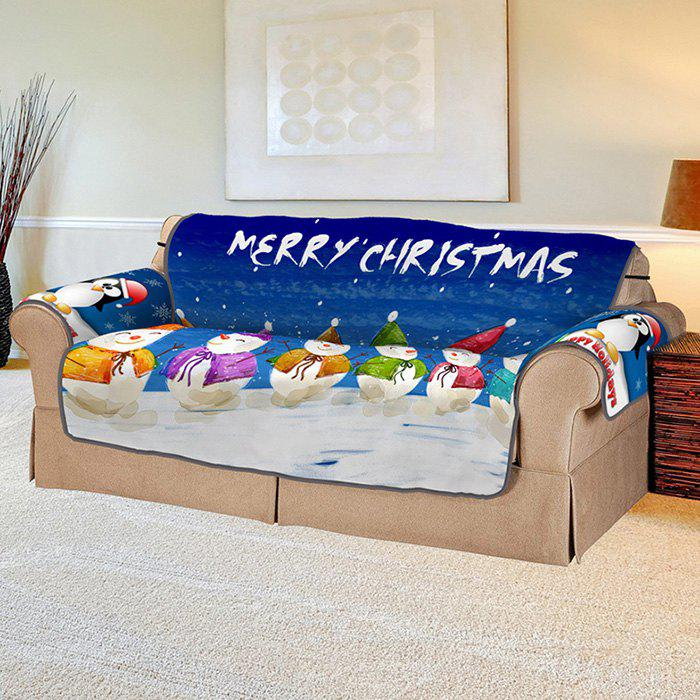 Outfits 3D Digital Printed Sofa Set Christmas Series Four Snowman Patterns Household Cushion
