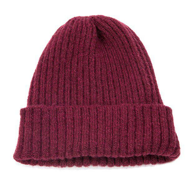 Store Simple Wild Pure Color Tide Warm Knit Hat