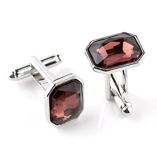 Outfits Men's Glass Drill Cufflinks Creative Colorful 2pcs