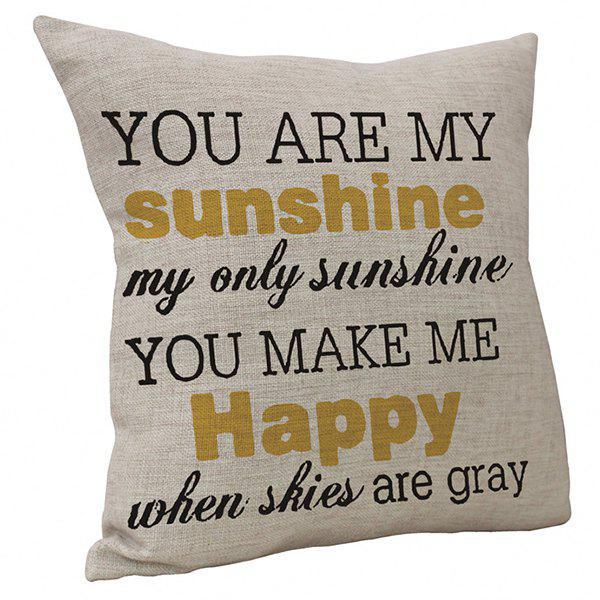 Buy English Letter Cushion Cover