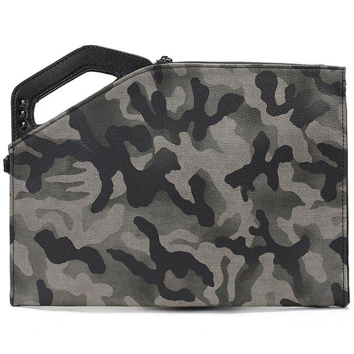 Sale Simple Trend Camouflage Clutch Bag