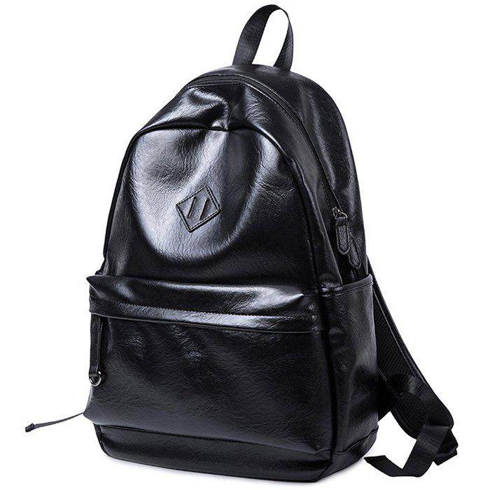 Shop Men's Tide Personality PU  Multi-function Large Capacity Backpack