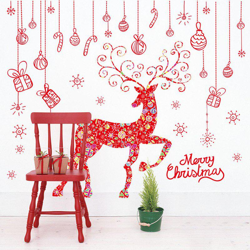475 Creative Christmas Deer Window Stickers Christmas Decorative Wall Stickers PVC Removable