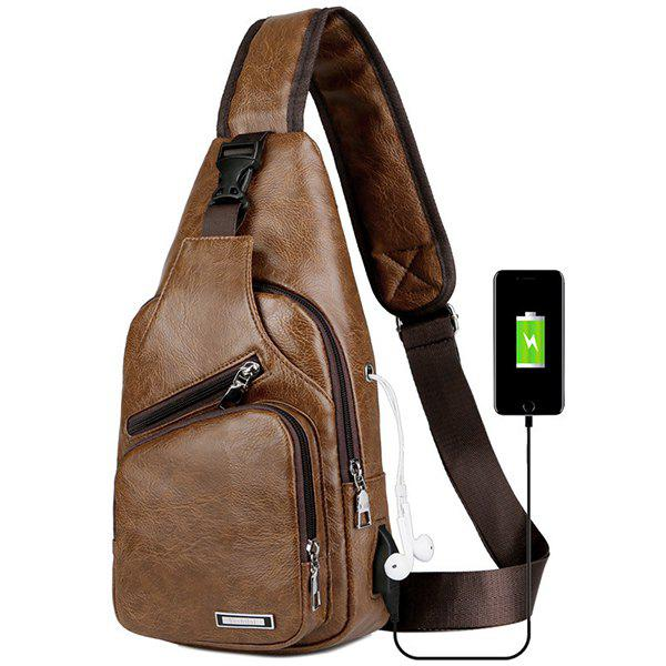Online USB Charging Chest Bag Casual Fashion
