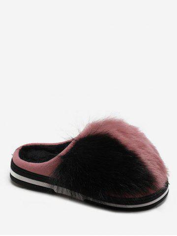 63de2aec4b1 Color Block Indoor Faux Fur Slippers