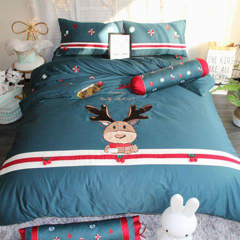 Christmas Elk 60 Satin Long-staple Cotton Bedding Set 220x240
