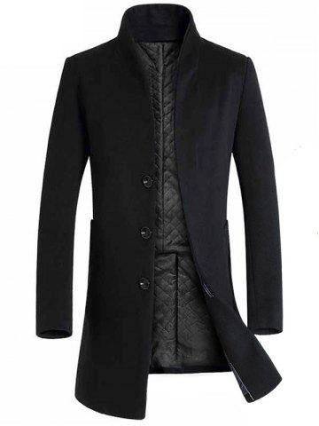 Winter Men's Long Slim Wool Coat Windbreaker Jacket