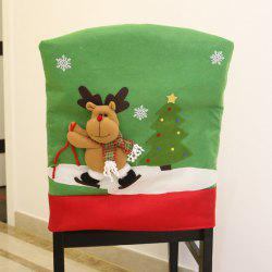 Christmas Decorations Chair Cover Santa Claus Ski -