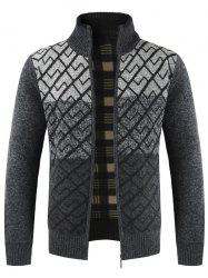 Men's  Sweater Casual Stand Collar Color Matching -