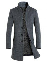 Winter Men's Long Slim Wool Coat Windbreaker Jacket -