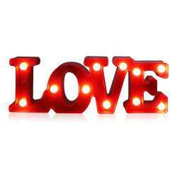 YEDUO Romantic Small White LOVE Marquee Sign Night Lights For Home Wedding Decoration Valentine Gift -