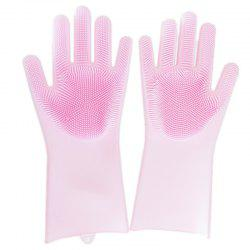 Silicone Dishwashing Kitchen Cleaning Glove Insulated Wear-resistant -