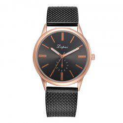 Lvpai P733 Alloy Silicone Hand Form Eye Four-needle Casual Quartz Watch -