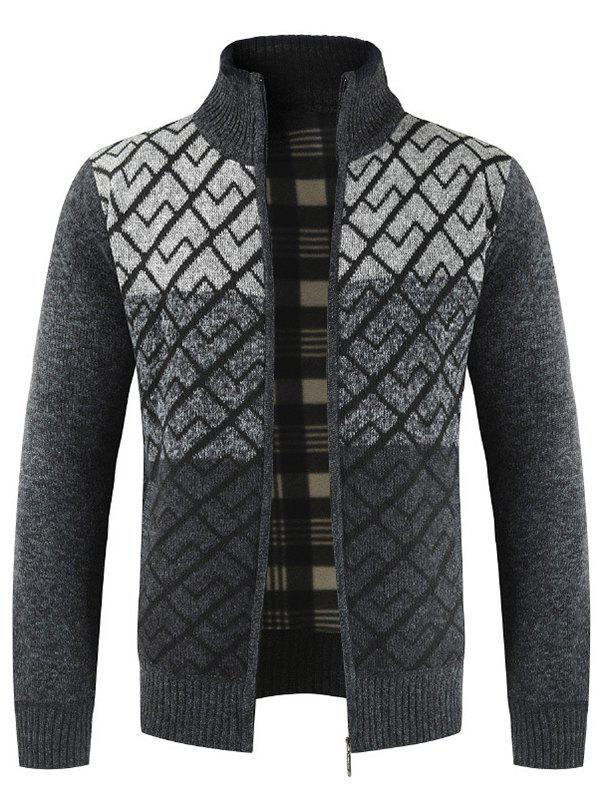 Discount Men's  Sweater Casual Stand Collar Color Matching