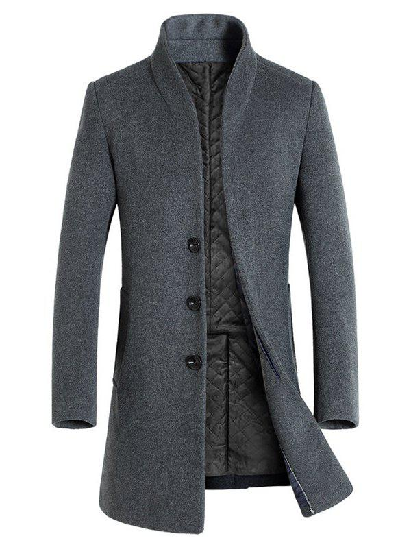 Store Winter Men's Long Slim Wool Coat Windbreaker Jacket