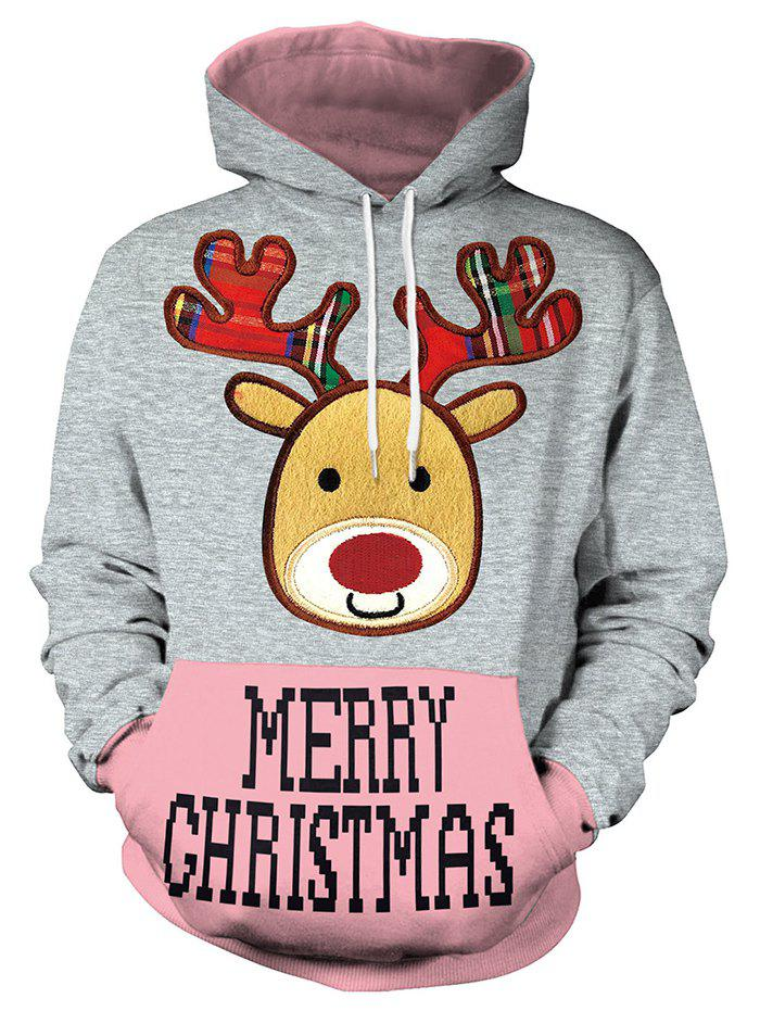 Cheap Christmas Women's Loose Casual Hoodies