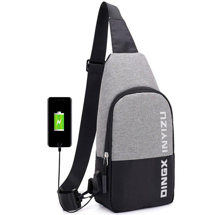 Waterproof USB Multi-layer Outdoor Riding Anti-theft Male Bag