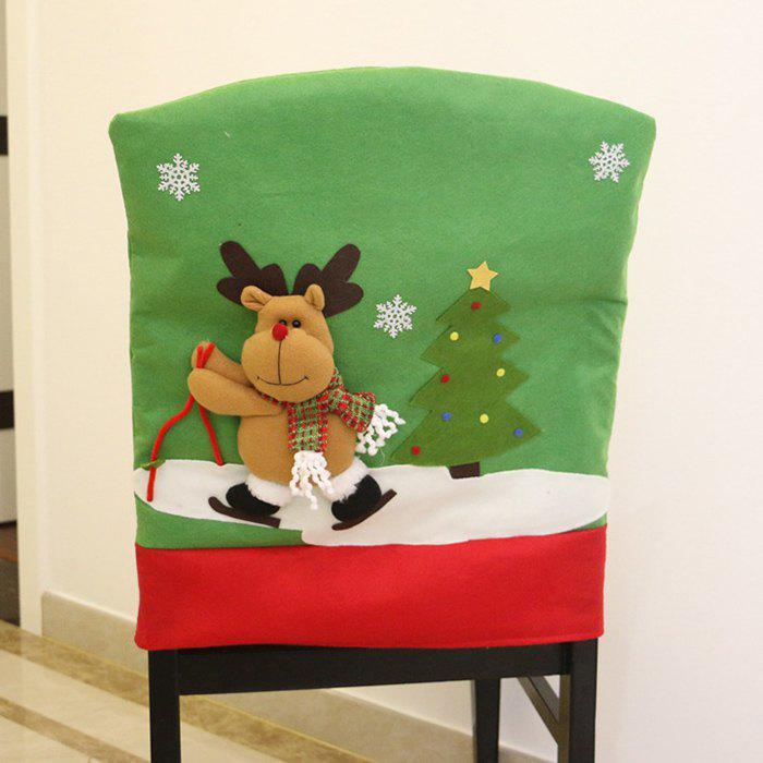 Store Christmas Decorations Chair Cover Santa Claus Ski
