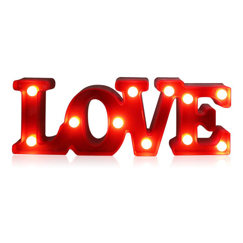 New YEDUO Romantic Small White LOVE Marquee Sign Night Lights For Home Wedding Decoration Valentine Gift