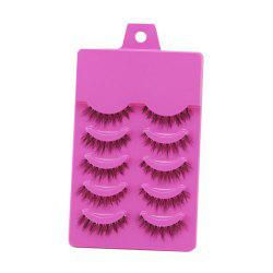 15 - W11039 - A01.1.06 Natural Cross Hand-knitted False Eyelashes 5 pairs -