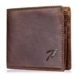 Men's Retro Real Leather Multi-function Coin Card Wallet -