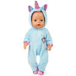 18 inch Simulation Baby Rebirth Doll Pony Clothes Set -