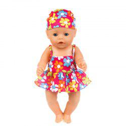 43cm Reborn Baby Swimsuit Set Clothes -