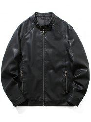 Motorcycle Leather Casual Jacket -