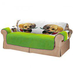 Couple Dog Double Sofa Cushion -