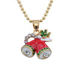 Christmas Creative Small Bell Pendant Necklace -
