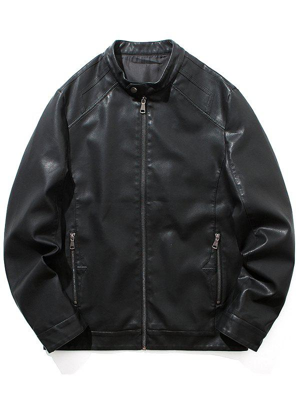 Chic Motorcycle Leather Casual Jacket