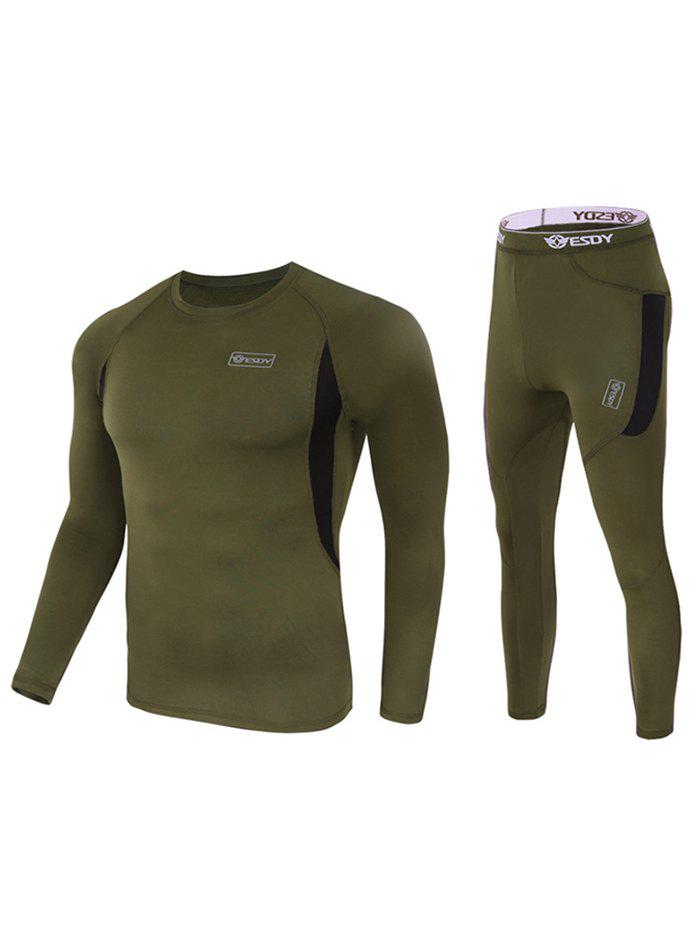 Fancy Outdoor Sports Fleece Thermal Underwear