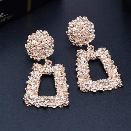 Shops Irregular Embossed Personality Geometric Square Metal Earrings