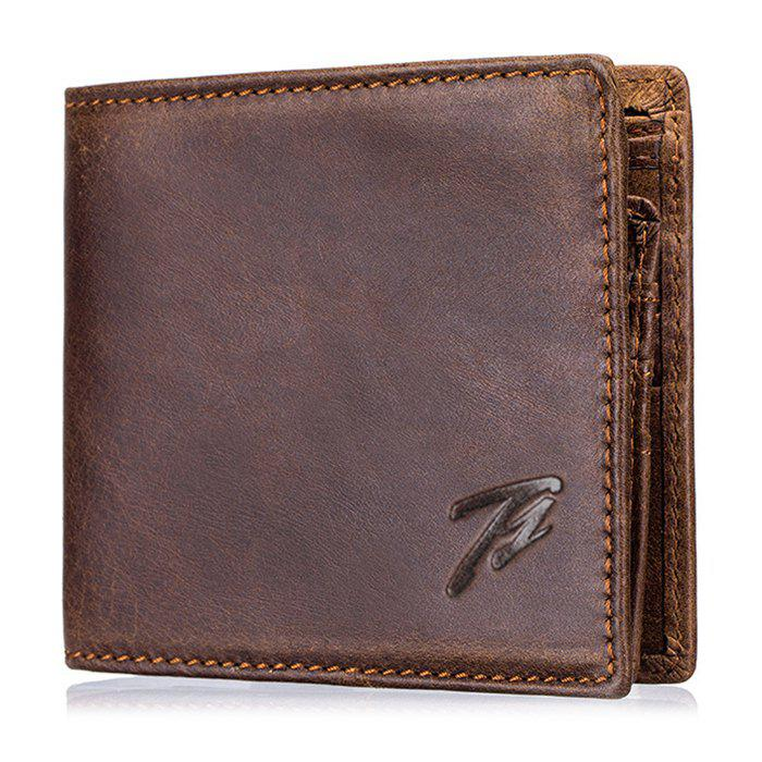 Outfits Men's Retro Real Leather Multi-function Coin Card Wallet