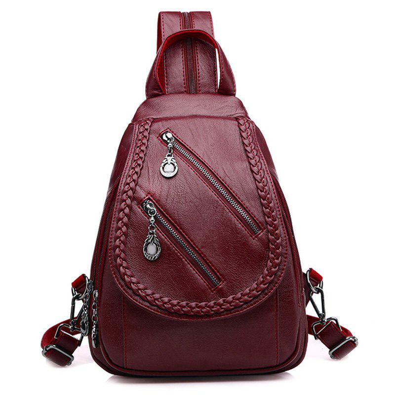 46% OFF   2018 Covered Knitting Fashion Pu Soft Leather Travel Small ... 42f090c2d1