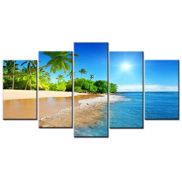 Outfit Decorative Oil Painting Beautiful Seaside Coconut Tree Scenery