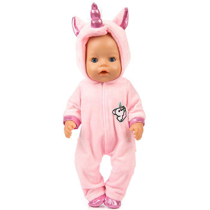 New 18 inch Simulation Baby Rebirth Doll Pony Clothes Set