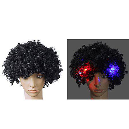Chic 6-ZZLJ2984 LED Festive Dance Party Flash Explosion Head Wig