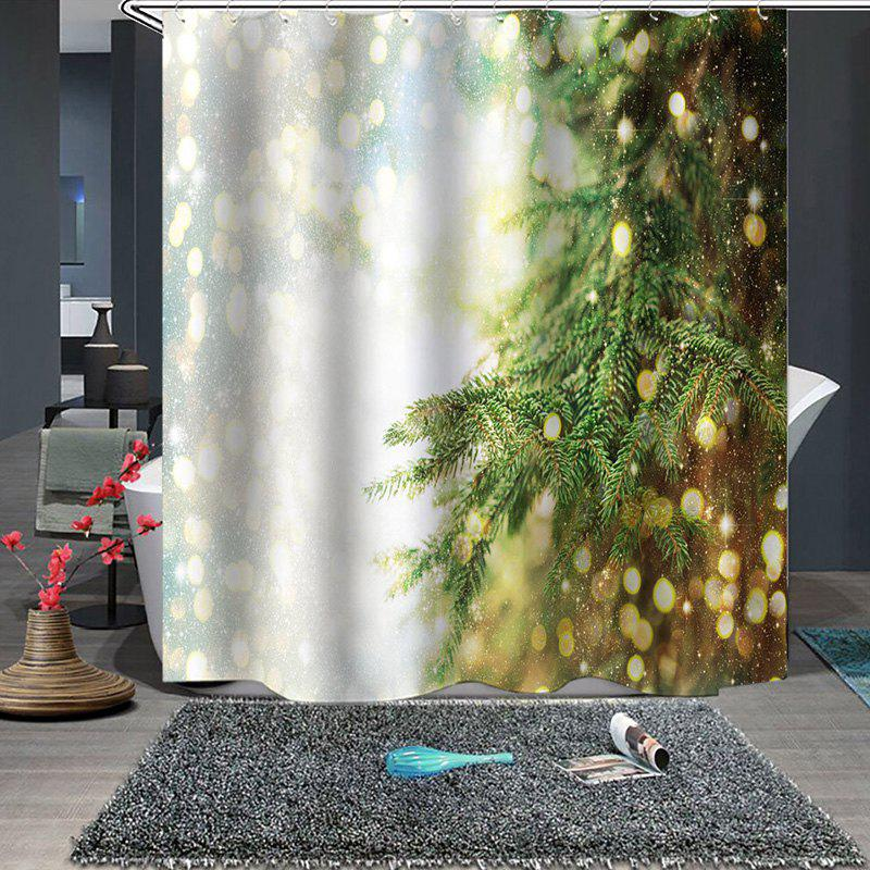 Christmas Pattern Waterproof  Breathable Mildew Bathroom Partition  Shower Curtain