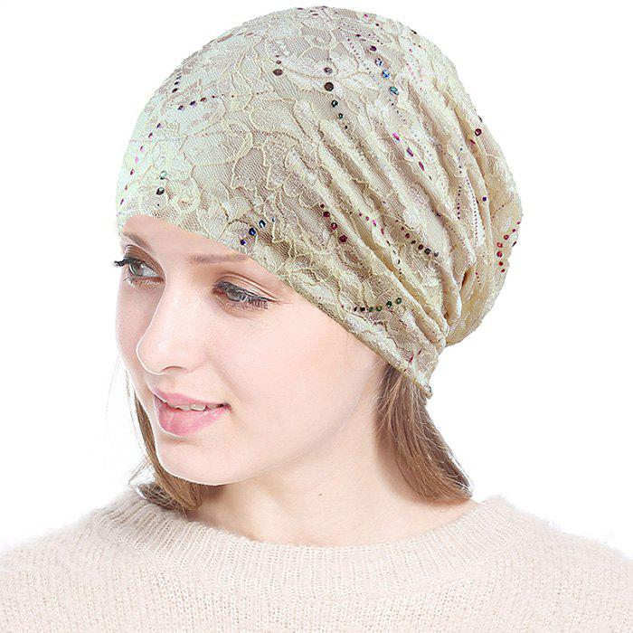 Fancy Simple Lace Headscarf Cap