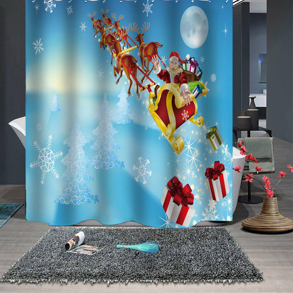 Shower Curtain Christmas Print Pattern Waterproof Breathable Mildew for Bathroom