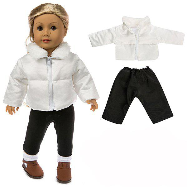Affordable 18 - inch Simulation Baby Rebirth Doll Dressing Cotton Jacket Clothing