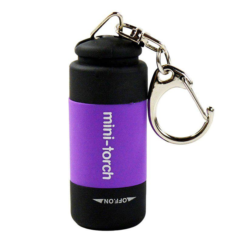 New Key Chain LED  Bright Portable USB Rechargeable Waterproof Small Flashlight