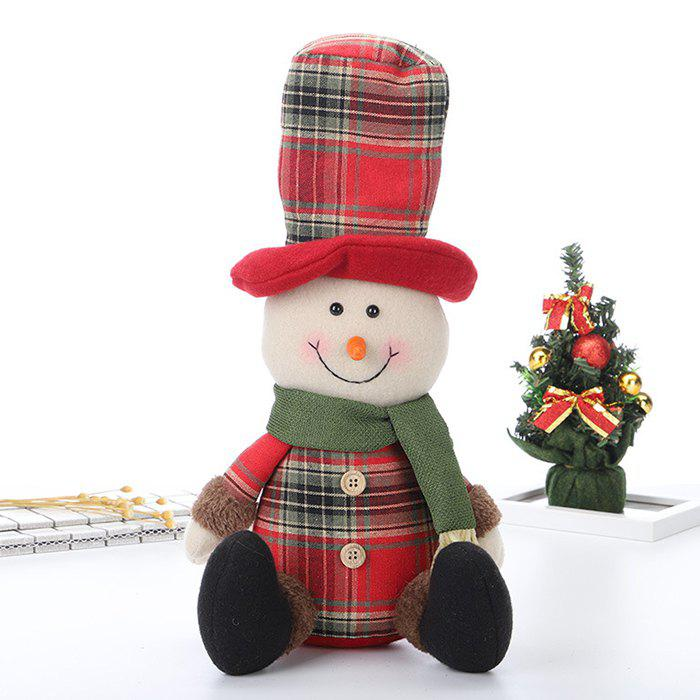 Outfit Snowman Ornaments Christmas Sitting Posture Doll
