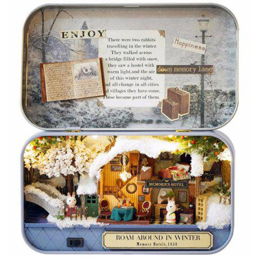 Cheap Creative Old Times Trilogy DIY Handmade Cabin Boutique Doll House Box Set