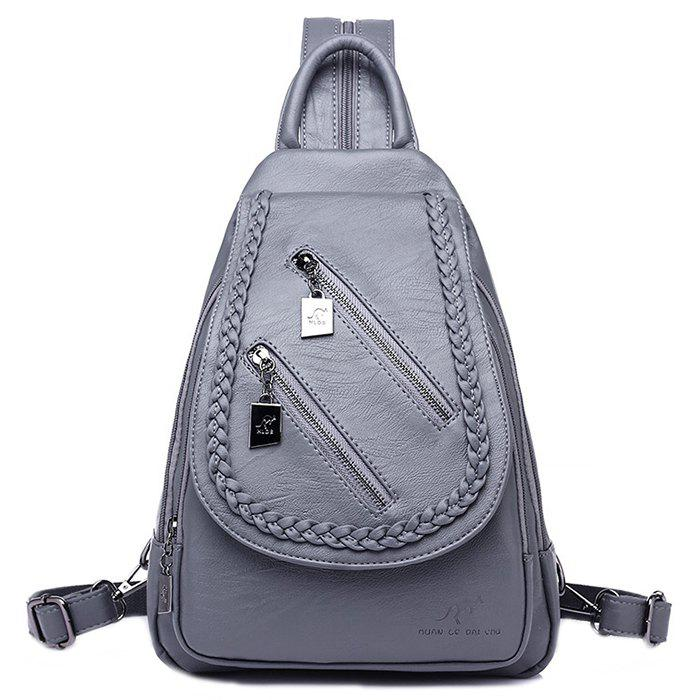 Unique Versatile Fashion Casual Outdoor Waterproof Soft Leather Backpack 5ab712603e8a9