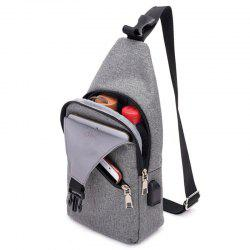 HUWAIJIANFENG 0112 USB Port Design Chest Bag -