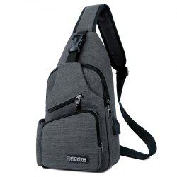 Men Charging Sports Chest Bag Outdoor -