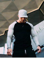 Sports Long-sleeved T-shirt Men's Quick-drying Compression Running Fitness Training -